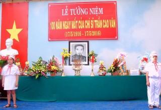 Lễ tưởng niệm 100 năm ngày mất của chí sĩ Trần Cao Vân