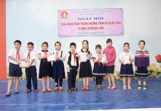 Tổ chức Ngày hội Công nhận hoàn thành chương trình dự bị đội viên và rèn luyện đội viên