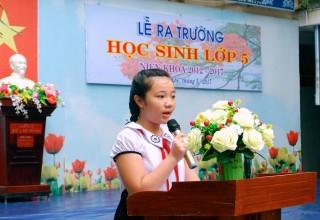 Lễ ra trường học sinh khối 5 niên khóa 2012- 2017