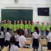 Trường TH Trần Cao Vân đón các em trường Mẫu giáo Cẩm Nhung tham quan trường