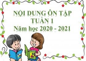 NỘI DUNG ÔN TẬP TUẦN 1 NĂM HỌC 2020 – 2021